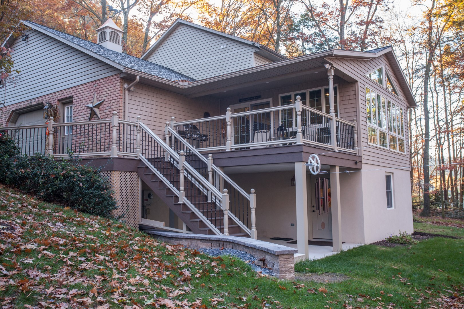 Schuylkill county custom home builder earl weaver for Two story sunroom additions