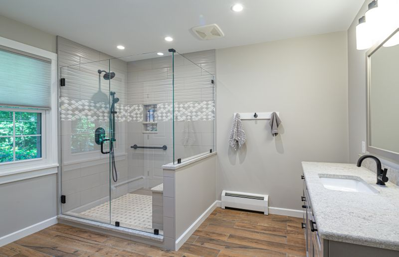Remodeled master bathroom in Mount Gretna, PA.